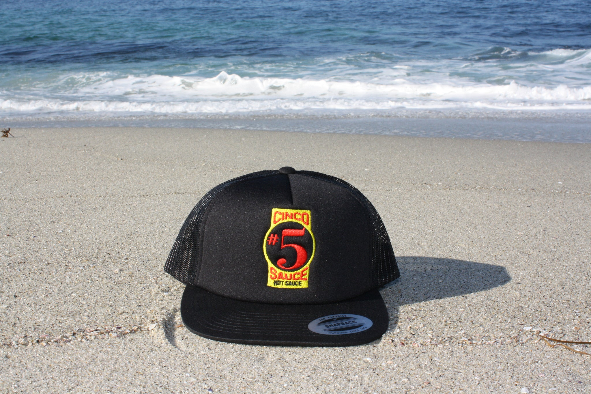 CINCO SAUCE™ LOW-RISE FOAM TRUCKER SNAPBACK BALL CAP – Cinco Sauce® 22c5a667c3f