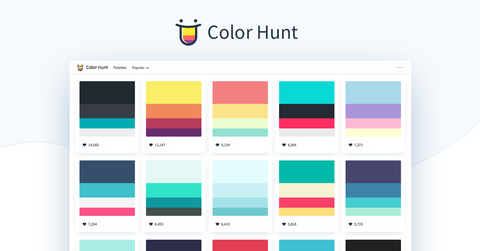Color hunt paleta de colores