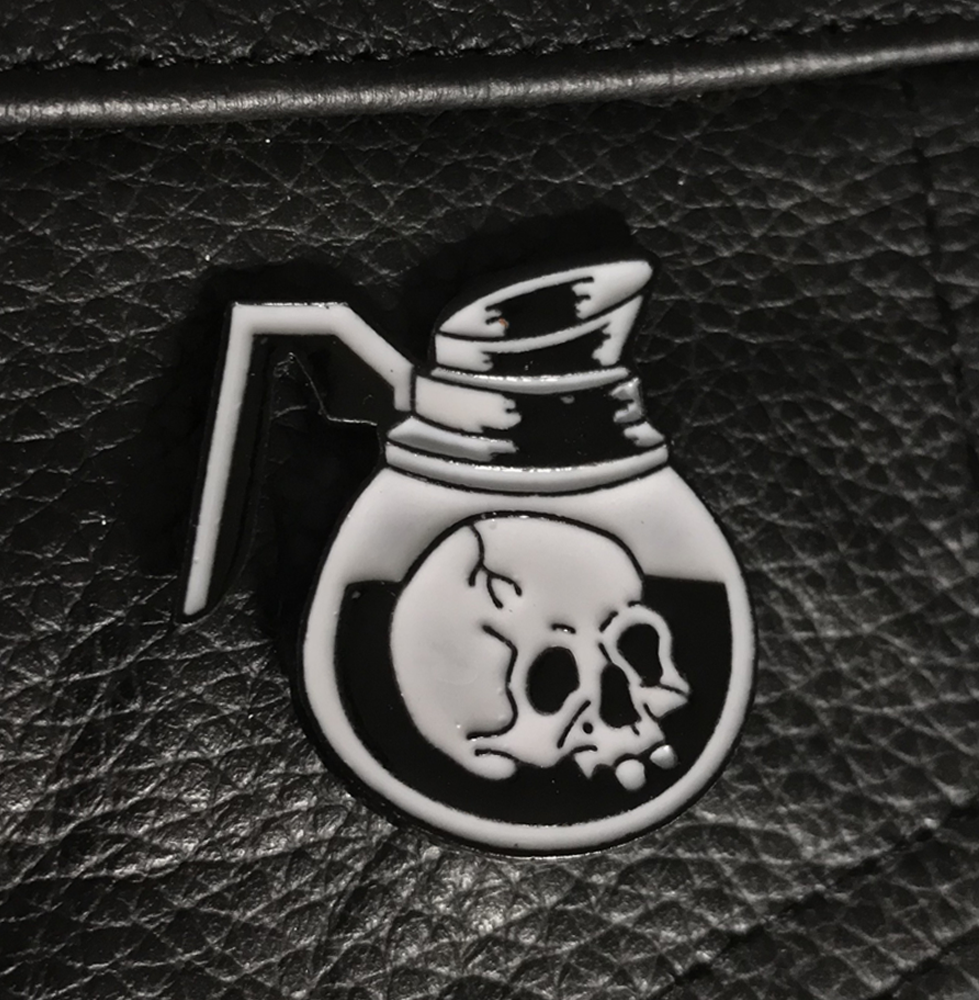 Zero Hour Killer Coffee Pin