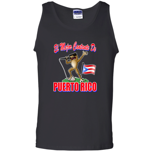 El Mejor Cantante 100% Cotton Tank Top - PR FLAGS UP