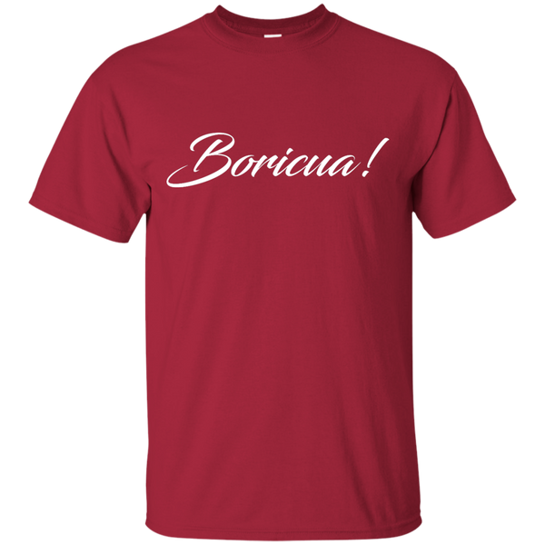 Boricua Script Custom Ultra Cotton T-Shirt - PR FLAGS UP