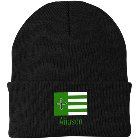 Añasco Flag CP90 Port Authority Knit Cap - PR FLAGS UP