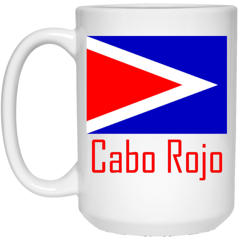 Cabo Rojo Flag 21504 15 oz. White Mug - PR FLAGS UP