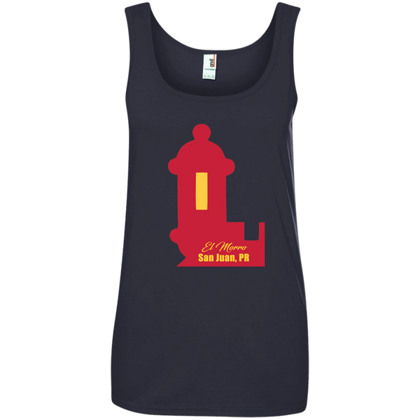 El Morro Ladies' 100% Ringspun Cotton Tank Top - PR FLAGS UP