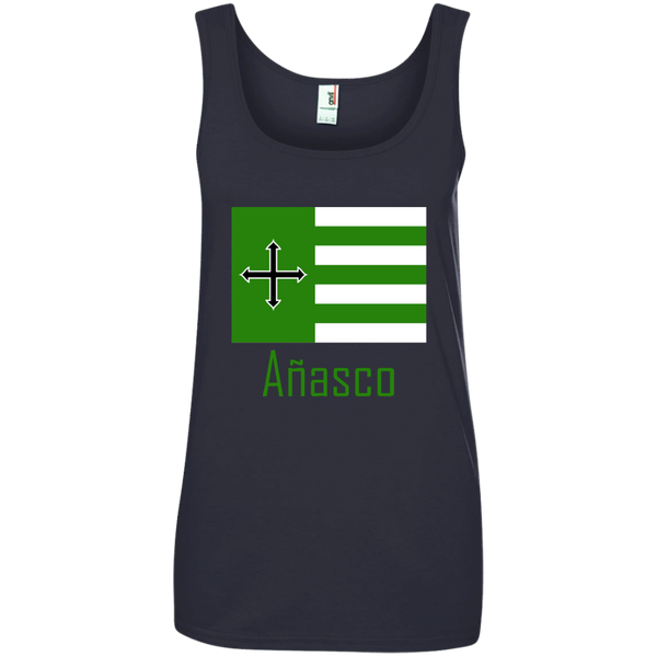 Añasco Flag 882L Anvil Ladies' 100% Ringspun Cotton Tank Top - PR FLAGS UP