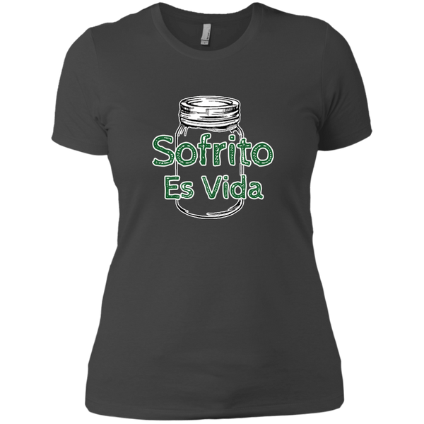 Sofrito Es Vida Next Level Ladies' Boyfriend Tee - PR FLAGS UP