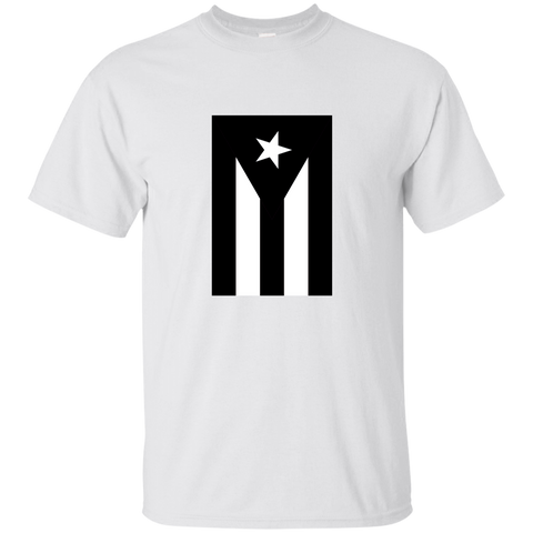Black Flag of Puerto Rico G200B Gildan Youth Ultra Cotton T-Shirt - PR FLAGS UP