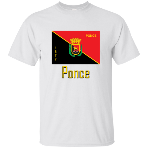 Ponce Flag G200 Gildan Ultra Cotton T-Shirt - PR FLAGS UP
