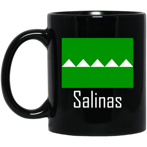 Salinas Flag BM11OZ 11 oz. Black Mug - PR FLAGS UP