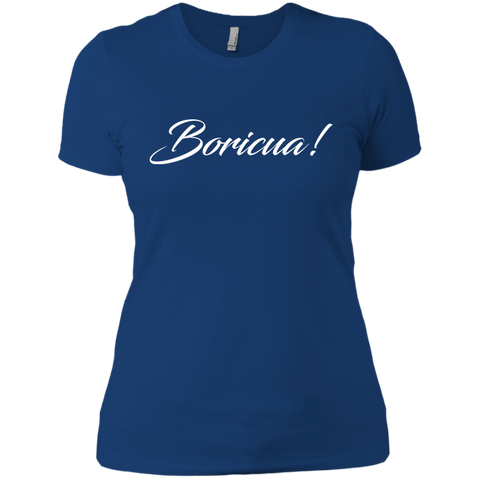 Boricua Next Level Ladies' Boyfriend Tee - PR FLAGS UP