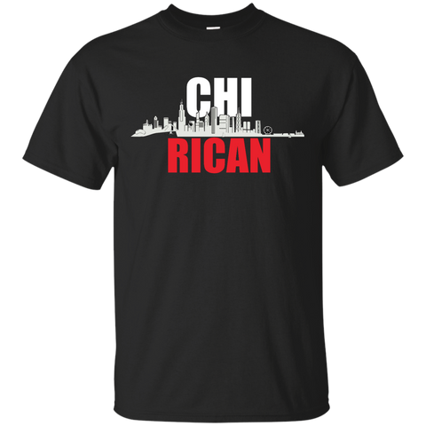 Chi Rican Custom Ultra Cotton T-Shirt - PR FLAGS UP