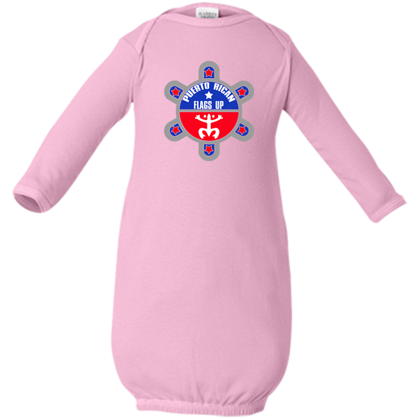 Puerto Rican Flags Up Infant Layette - PR FLAGS UP