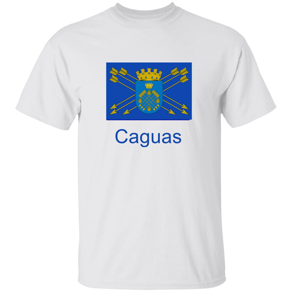 Caguas Flag Kids G500B Youth 5.3 oz 100% Cotton T-Shirt