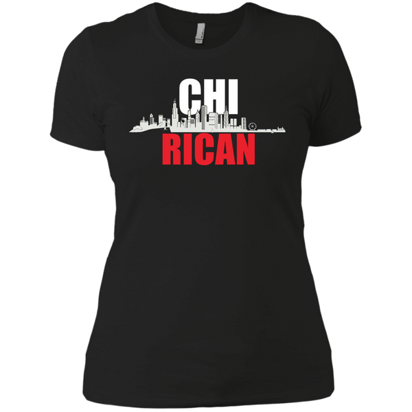 Chi Rican Next Level Ladies' Boyfriend Tee - PR FLAGS UP
