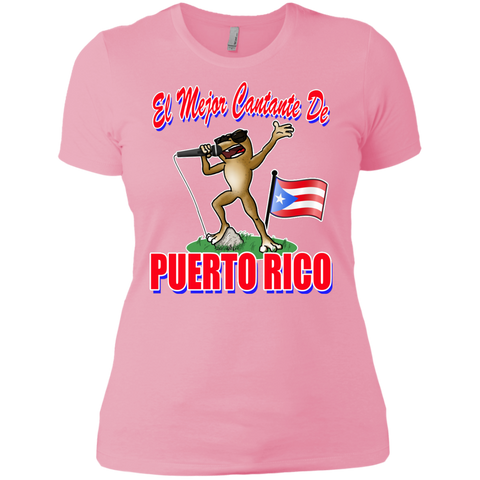 El Mejor Cantante Next Level Ladies' Boyfriend Tee - PR FLAGS UP