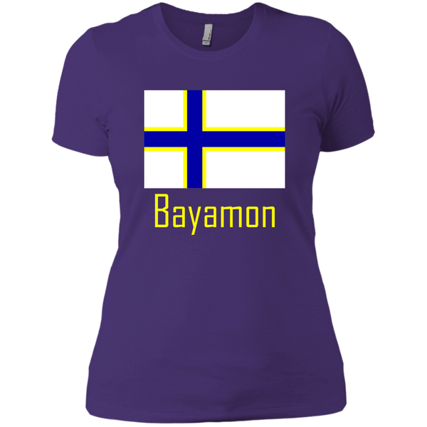 Bayamon Flag NL3900 Next Level Ladies' Boyfriend T-Shirt - PR FLAGS UP