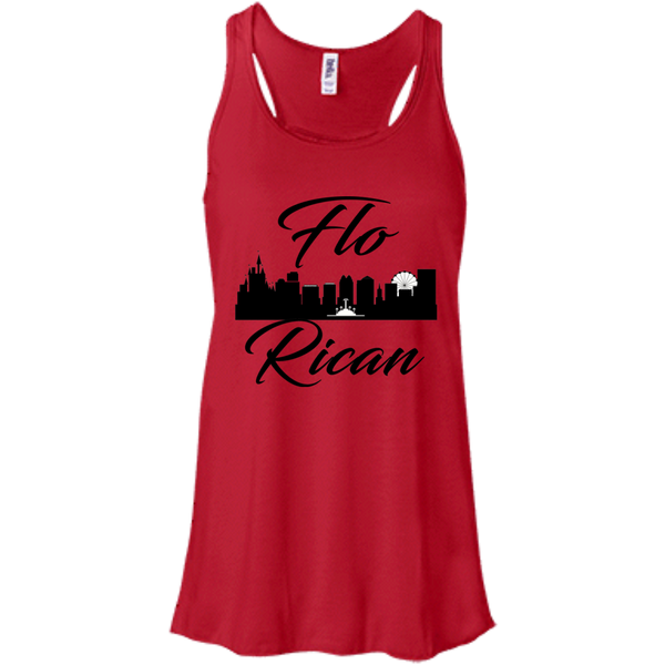 FloRican 1 B8800 Bella + Canvas Flowy Racerback Tank - PR FLAGS UP