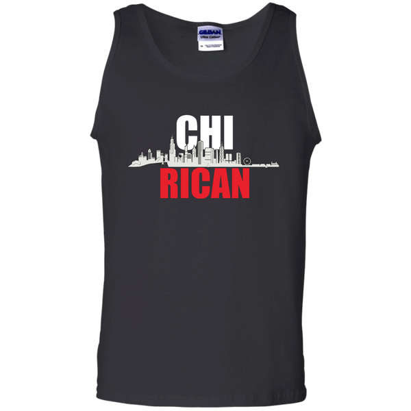 Chi Rican 100% Cotton Tank Top - PR FLAGS UP