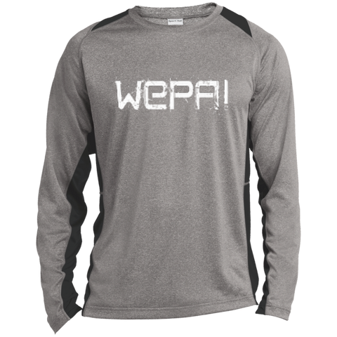 Wepa Long Sleeve Heather Colorblock Poly T-shirt - PR FLAGS UP