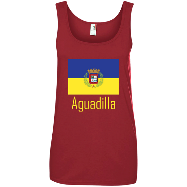 Aguadilla Flag 882L Anvil Ladies' 100% Ringspun Cotton Tank Top - PR FLAGS UP