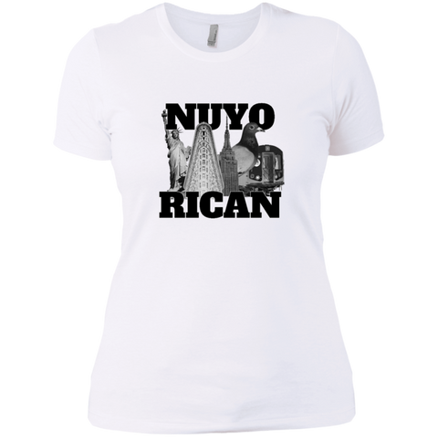 NuyoRican Elite NL3900 Next Level Ladies' Boyfriend T-Shirt - PR FLAGS UP