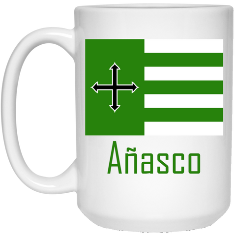 Añasco Flag 21504 15 oz. White Mug - PR FLAGS UP