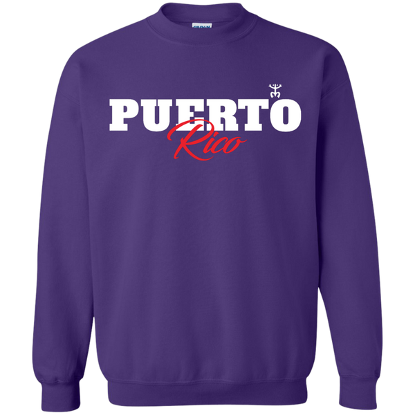 Puerto Rico Script 1 Crewneck Pullover Sweatshirt  8 oz - PR FLAGS UP