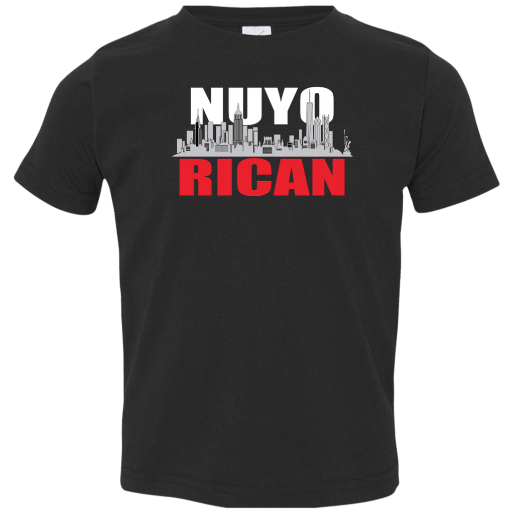 NuyoRican Toddler Jersey Tee - PR FLAGS UP