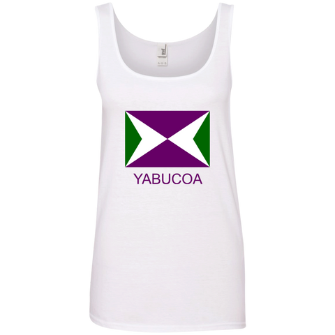 Yabucoa 882L Anvil Ladies' 100% Ringspun Cotton Tank Top - PR FLAGS UP