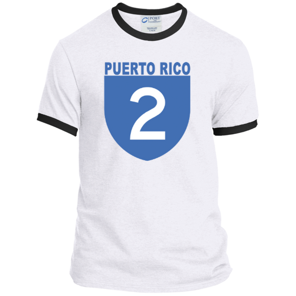 La Numero 2 PC54R Port & Co. Ringer Tee