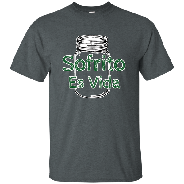 Sofrito Es Vida Custom Ultra Cotton T-Shirt - PR FLAGS UP