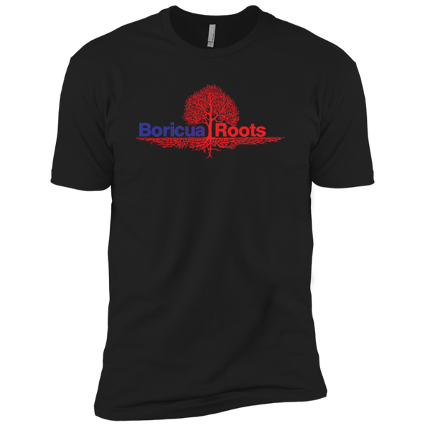 Boricua Roots Blue & Red Logo NL3310 Next Level Boys' Cotton T-Shirt - PR FLAGS UP