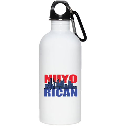 NuyoRican 2 20 oz Stainless Steel Water Bottle - PR FLAGS UP