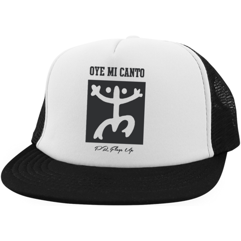 Oye Mi Canto El Coqui Trucker Hat with Snapback - PR FLAGS UP