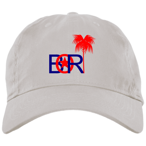 Bori Red & Blue Logo BX001 Brushed Twill Unstructured Dad Cap - PR FLAGS UP