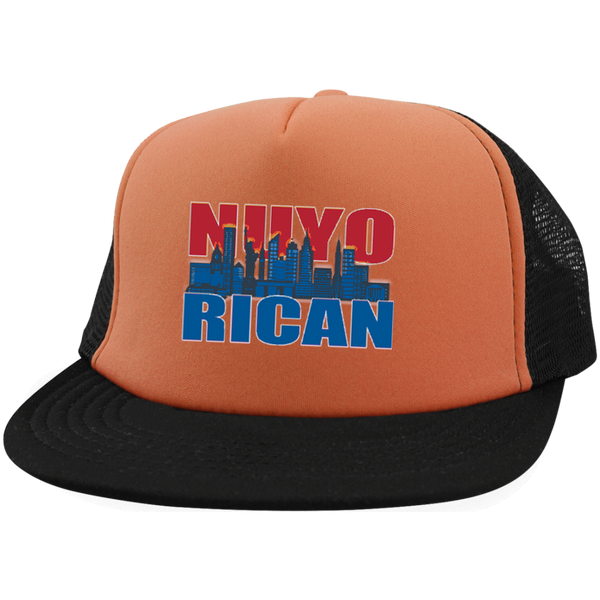NuyoRican 2 Trucker Hat with Snapback - PR FLAGS UP