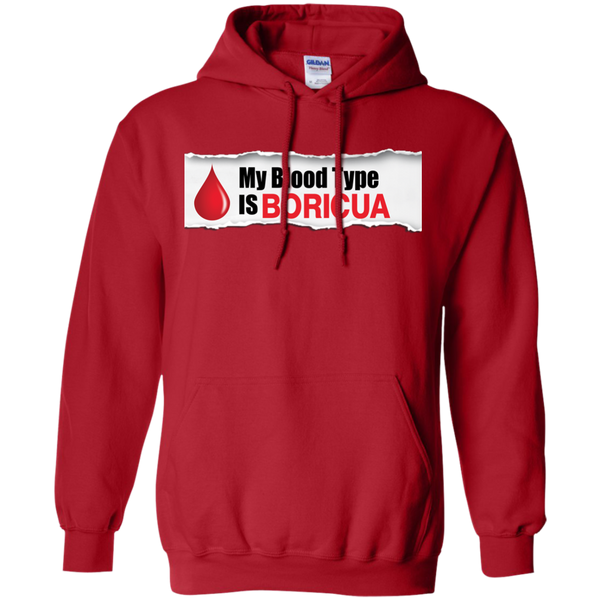 Blood Type Pullover Hoodie 8 oz - PR FLAGS UP