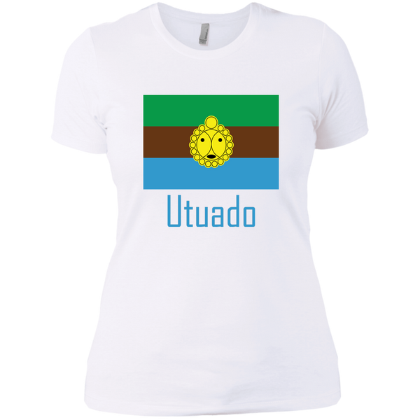 Utuado NL3900 Next Level Ladies' Boyfriend T-Shirt - PR FLAGS UP