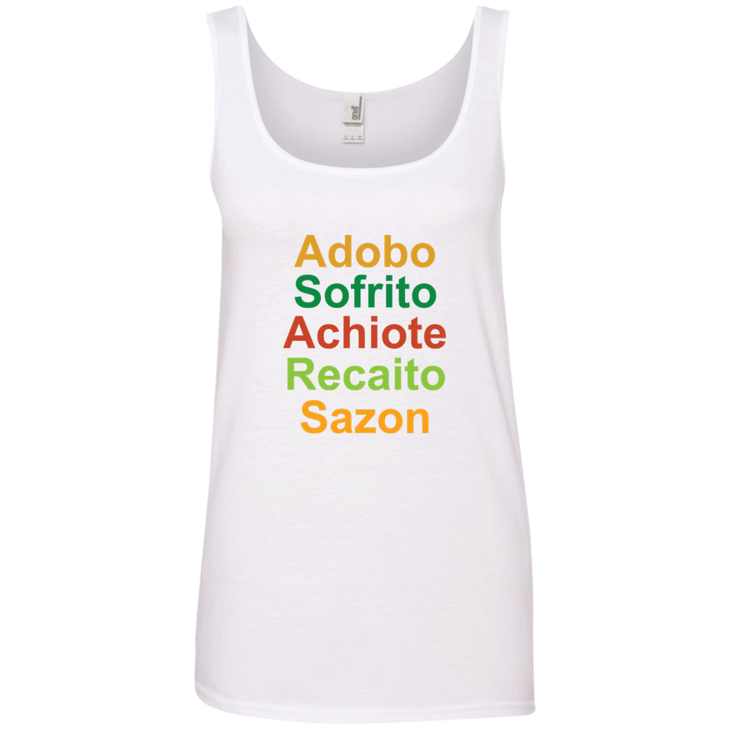 Sabor' 882L Anvil Ladies' 100% Ringspun Cotton Tank Top - PR FLAGS UP