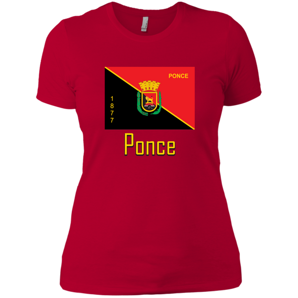 Ponce Flag NL3900 Next Level Ladies' Boyfriend T-Shirt - PR FLAGS UP