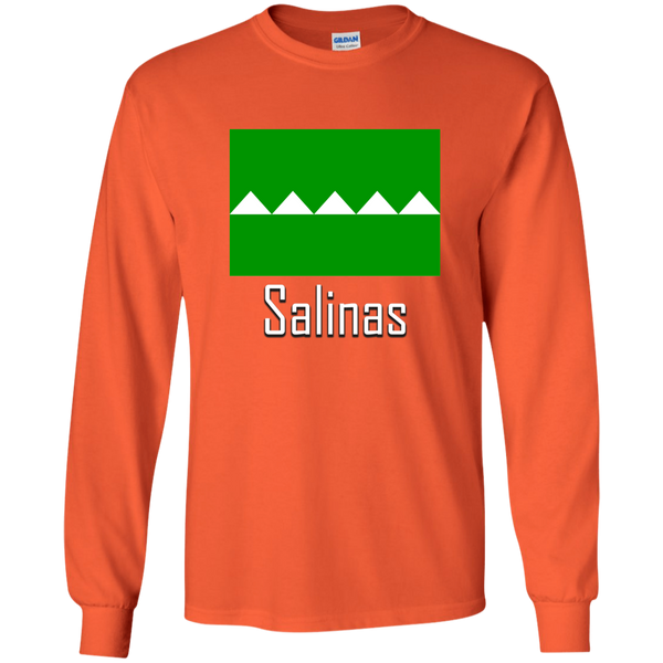 Salinas G240 Gildan LS Ultra Cotton T-Shirt - PR FLAGS UP