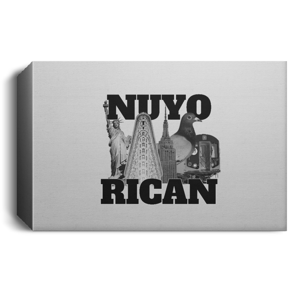 NuyoRican Elite CANLA15 Deluxe Landscape Canvas 1.5in Frame - PR FLAGS UP