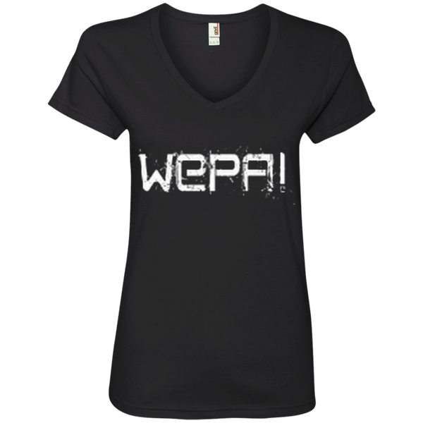 Wepa Ladies' V-Neck Tee - PR FLAGS UP