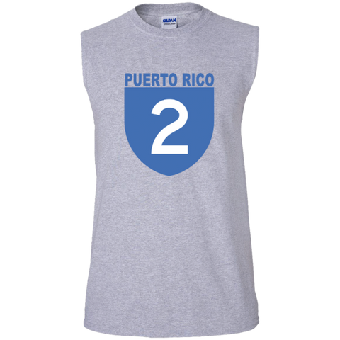 La Numero 2 G270 Gildan Men's Ultra Cotton Sleeveless T-Shirt - PR FLAGS UP