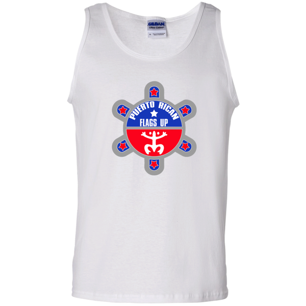 Puerto Rican Flags Up 100% Cotton Tank Top - PR FLAGS UP