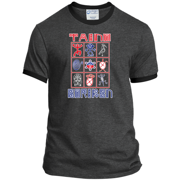 Taino Boriken Personalized Ringer Tee - PR FLAGS UP