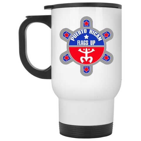 Puerto Rican Flags Up Travel Mug