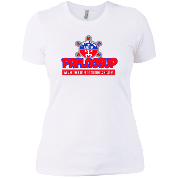 PR Flags Up Next Level Ladies' Boyfriend Tee - PR FLAGS UP