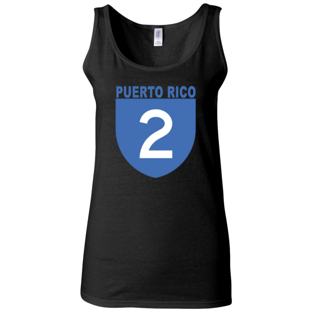 La Numero 2 G642L Gildan Ladies' Softstyle Fitted Tank - PR FLAGS UP