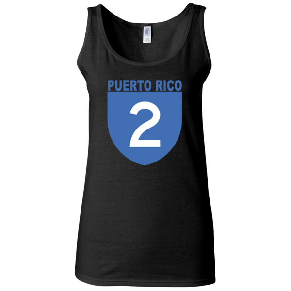 La Numero 2 G642L Gildan Ladies' Softstyle Fitted Tank